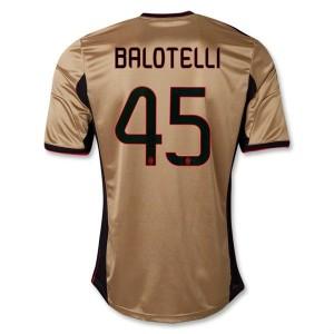 Camiseta AC Milan Balotelli Tercera Equipacion 2013/2014