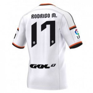 Camiseta de Valencia 2014/2015 Primera Rodrigo Equipacion