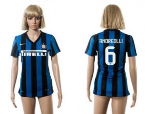 Mujer Camiseta del 6 Inter Milan 2015/2016