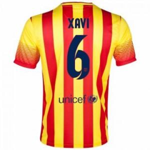 Camiseta nueva Barcelona Xavi Equipacion Segunda 2013/2014
