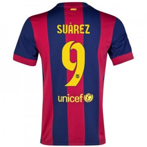 Camiseta de Barcelona 2014/2015 Primera SUAREZ Equipacion