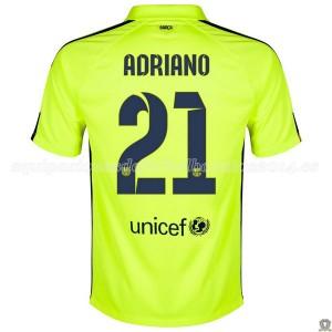 Camiseta nueva del Barcelona 2014/2015 Adriano Tercera