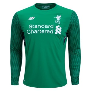 Camiseta Liverpool Goalkeeper Home Long Sleeve 2017/2018