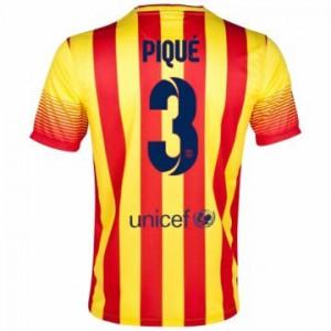 Camiseta nueva Barcelona Pique Equipacion Segunda 2013/2014