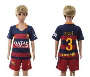 Niños Camiseta del 3 Barcelona Home 2015/2016