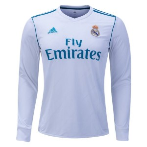 Camiseta de Real Madrid 2017/2018 Home Long Sleeve
