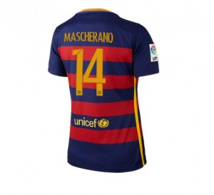 Camiseta nueva Barcelona Mujer Numero 14 Equipacion Primera 2015/2016