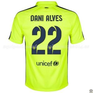 Camiseta nueva del Barcelona 2014/2015 Dani Alves Tercera