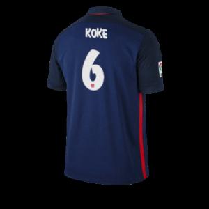 Camiseta del KOKE Atletico Madrid Segunda Equipacion 2015/2016