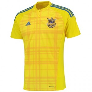 Camiseta del Ucrania Primera Equipacion 2016