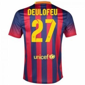 Camiseta Barcelona Deulofeu Primera Equipacion 2013/2014