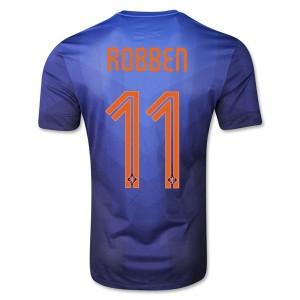 Camiseta Holanda de la Seleccion Robben Segunda WC2014