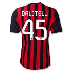 Camiseta AC Milan Balotelli Primera Equipacion 2013/2014