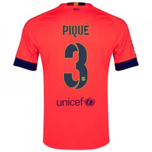 Camiseta Barcelona PIQUE Segunda Equipacion 2014/2015