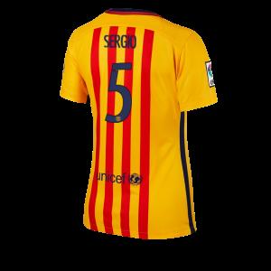Camiseta nueva del Barcelona 2015/2016 Equipacion Numero 05 Mujer Segunda