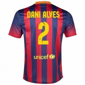 Camiseta nueva Barcelona Dani Alves Equipacion Primera 2013/2014