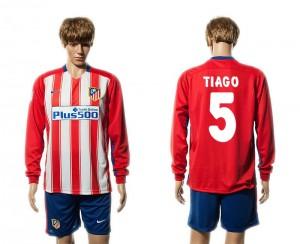 Camiseta de Atletico Madrid 15/16 Primera 5# Manga Larga