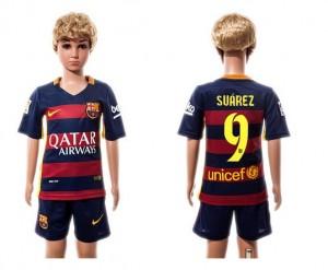 Camiseta de Barcelona 2015/2016 Home #09 Niños