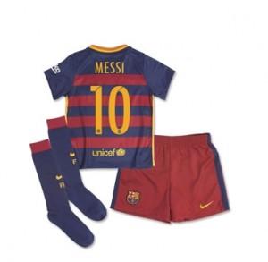 Kit nueva Barcelona Boys MESSI Little Home 15/16