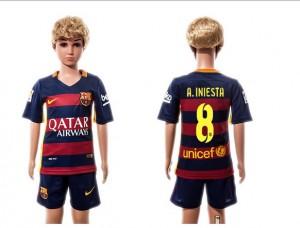 Camiseta nueva del Barcelona 2015/2016 #08 Niños Home