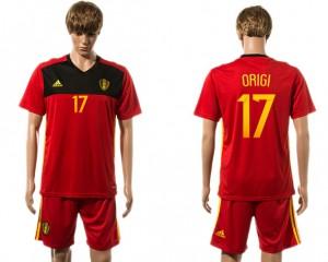 Camiseta nueva del Belgium 2015-2016 17#