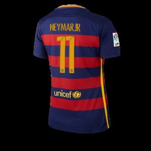 Camiseta Barcelona Numero 11 Primera Equipacion 2015/2016 Mujer