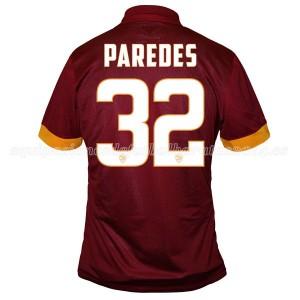 Camiseta nueva AS Roma Paredes Equipacion Primera 2014/2015