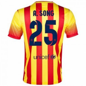 Camiseta nueva del Barcelona 2013/2014 Equipacion A.Song Segunda