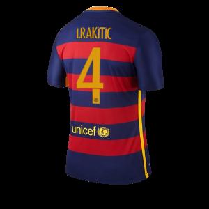 Camiseta del Numero 04 RAKITI Barcelona Primera Equipacion 2015/2016