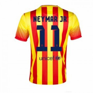 Camiseta del Neymar JR Barcelona Segunda Equipacion 2013/2014