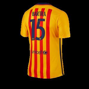 Camiseta del Numero 15 BARTRA Barcelona Segunda Equipacion 2015/2016