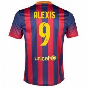 Camiseta del Alexis Barcelona Primera Equipacion 2013/2014