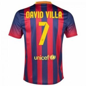 Camiseta nueva del Barcelona 2013/2014 Equipacion David Villa Primera