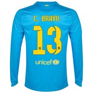 Camiseta Portero nueva del Barcelona 2014/2015 Equipacion C.Bravo Segunda