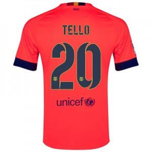 Camiseta nueva del Barcelona 2014/2015 Equipacion TELLO Segunda