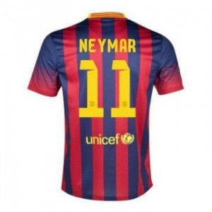 Camiseta del Neymar JR Barcelona Primera Equipacion 2013/2014