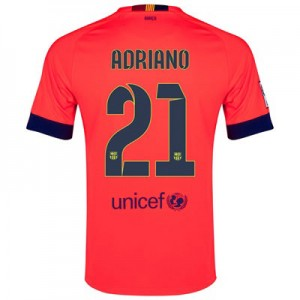 Camiseta Barcelona ADRIANO Segunda Equipacion 2014/2015