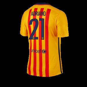 Camiseta Barcelona Numero 21 ADRIAN Segunda Equipacion 2015/2016