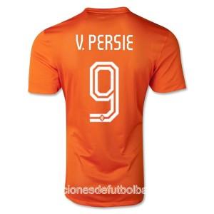 Camiseta nueva Holanda de la Seleccion V.Persie Primera WC2014