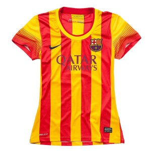 Mujer Camiseta del Barcelona Segunda Equipacion 2013/2014