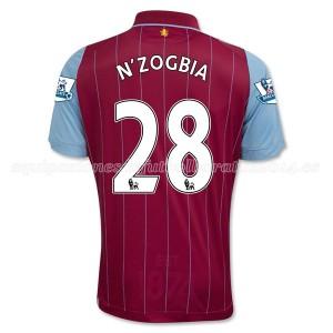 Camiseta de Aston Villa 2014/15 Primera N_Zogbia Equipacion