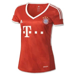 Camiseta de Bayern Munich 2013/2014 Primera Equipacion Mujer