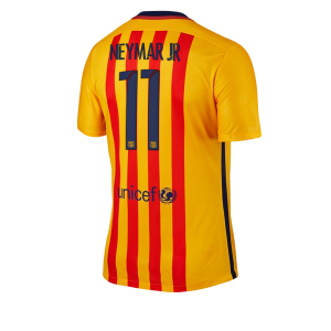 Camiseta nueva Barcelona Numero 11 NEYMAR Equipacion Segunda 2015/2016