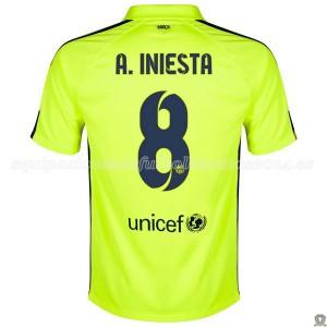 Camiseta nueva Barcelona A.Iniesta Tercera 2014/2015