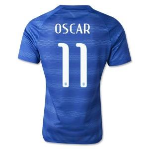 Camiseta nueva del Brasil de la Seleccion WC2014 Oscar Segunda