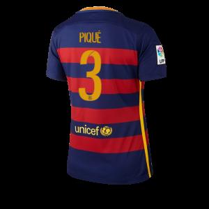 Mujer Camiseta del Numero 03 Barcelona Primera Equipacion 2015/2016
