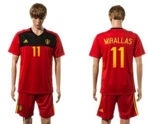 Camiseta de Belgium 2015-2016 11#