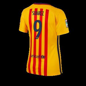 Camiseta nueva del Barcelona 2015/2016 Equipacion Numero 09 Mujer Segunda