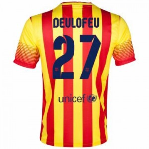 Camiseta nueva Barcelona Deulofeu Equipacion Segunda 2013/2014