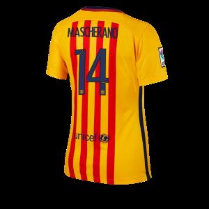 Mujer Camiseta del Numero 14 Barcelona Segunda Equipacion 2015/2016